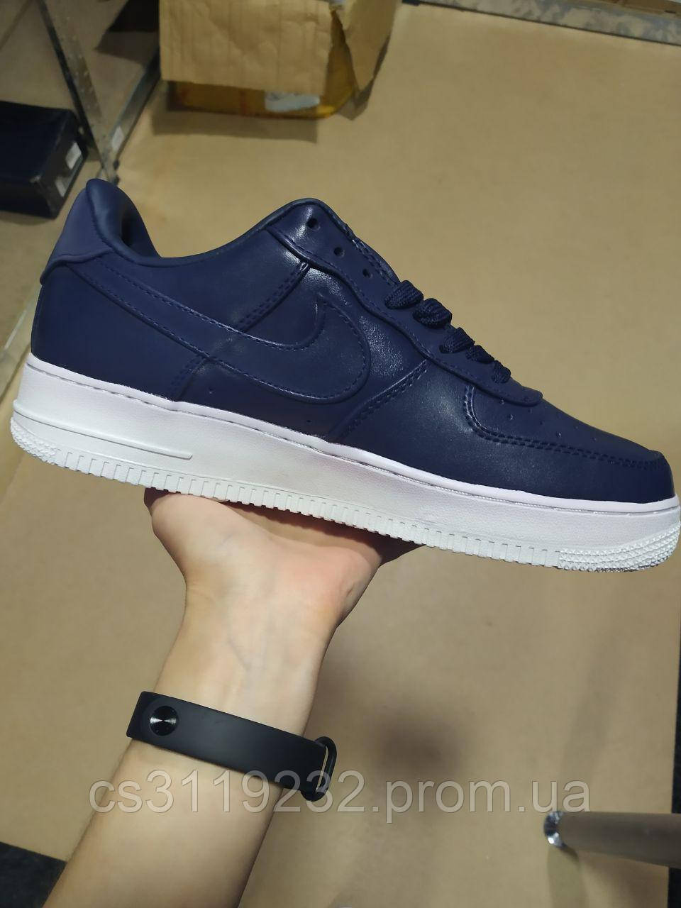 Мужские кроссовки Nike Air Force 1 Low Deep Blue (синие)