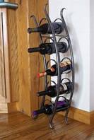 Подставка для вина напольная, кованая - 117
