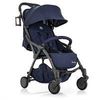 Детская прогулочная коляска Синяя 2+ (ME 1034L Denim)