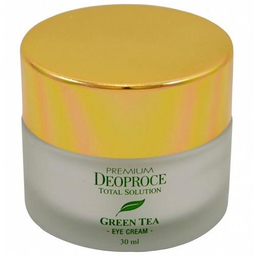 Увлажняющий крем для век с экстрактом зеленого чая Premium Deoproce Green Tea Total Solution eye cream