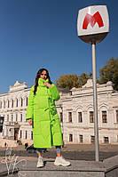 Объемное пальто-одеяло в стиле oversize
