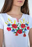 Вышитая женская футболка  641 (Л.Л.Л)