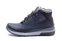 Мужские  зимние кожаные кроссовки  New Balance Blue (реплика)