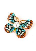 БР4300-6 Брошь бабочка 4,2х3,5см