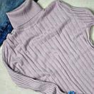 Жіночий рожевий гольф рубчик з люрексом, фото 2