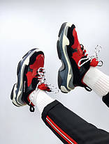 Женские кроссовки в стиле Balenciaga Triple S Red/Black, фото 3