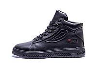 Мужские зимние кожаные ботинки FILA (реплика)
