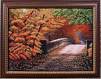 Набор для вышивки бисером Осенний мостик МК Б-085