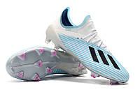 Футбольные бутсы adidas X 19.1 FG Bright Cyan/Core Black/Pink, фото 1