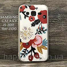 Силиконовый чехол для Samsung Galaxy J5 2015 (SM-J500) Цветы