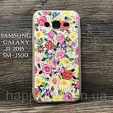 Силіконовий чохол для Samsung Galaxy J5 2015 (SM-J500) Квіти