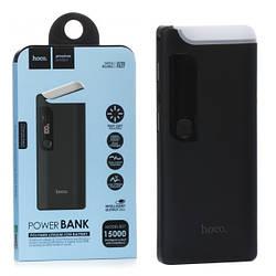 УМБ Power Bank 15000mAh 1А-2А HOCO с LED фонарем и 2USB портами для зарядки двух устройств (B27)