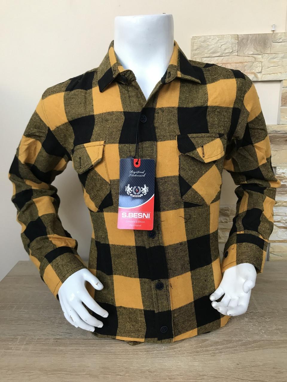 Детская кашемировая рубашка S.Besni 11-16