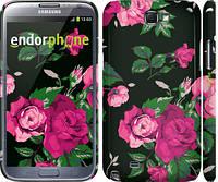 "Чехол на Samsung Galaxy Note 2 N7100 Розы на черном фоне ""2239c-17"""