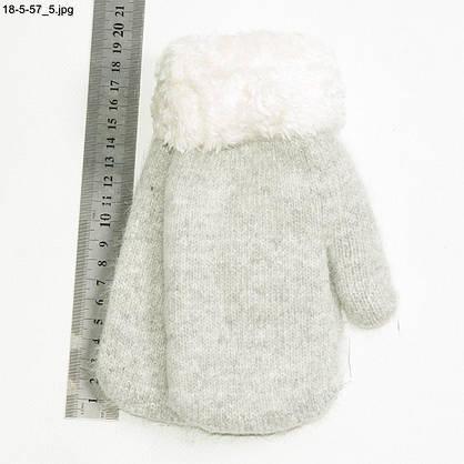 Оптом підліткові ангорові рукавиці на хутрі від 15 років - №18-5-56, фото 3