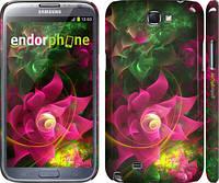 """Чехол на Samsung Galaxy Note 2 N7100 Абстрактные цветы 2 """"818c-17"""""""