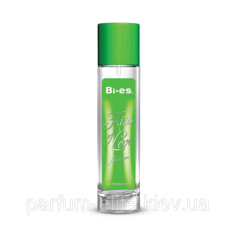 Женский парфюмированный дезодорант в стекле Kiss of Love green 75ml