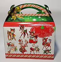 Упаковка Новый год Коробка Сумка на винтаж 1025*4 800 грамм