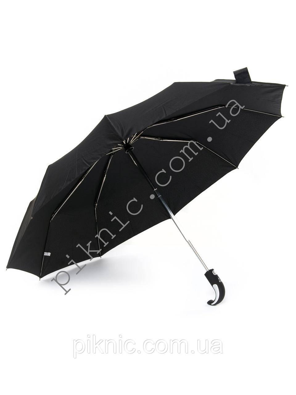 Компактный мужской зонт от дождя. Автомат. Диаметр купола 100 см. Спицы из нержавейки