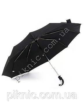 Компактный мужской зонт от дождя. Автомат. Диаметр купола 100 см. Спицы из нержавейки, фото 2