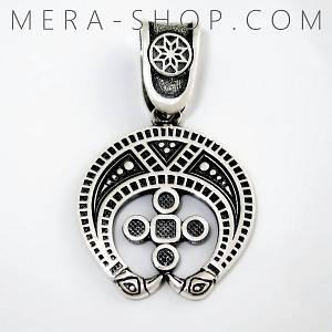 Лунница славянский оберег из серебра 925 пробы