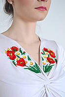 Вышитая женская футболка  647 (Л.Л.Л)