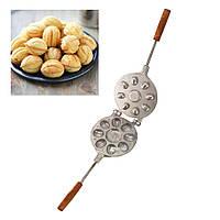 Форма алюминиевая  для выпечки орешков Орешница — 8 орех, фото 1