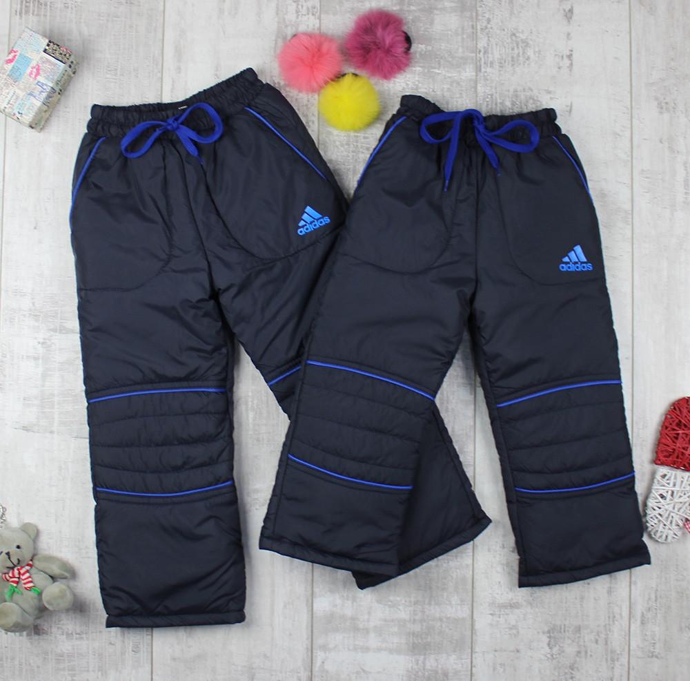 Штани дитячі зимові на флісі Adidas для хлопчика BQ