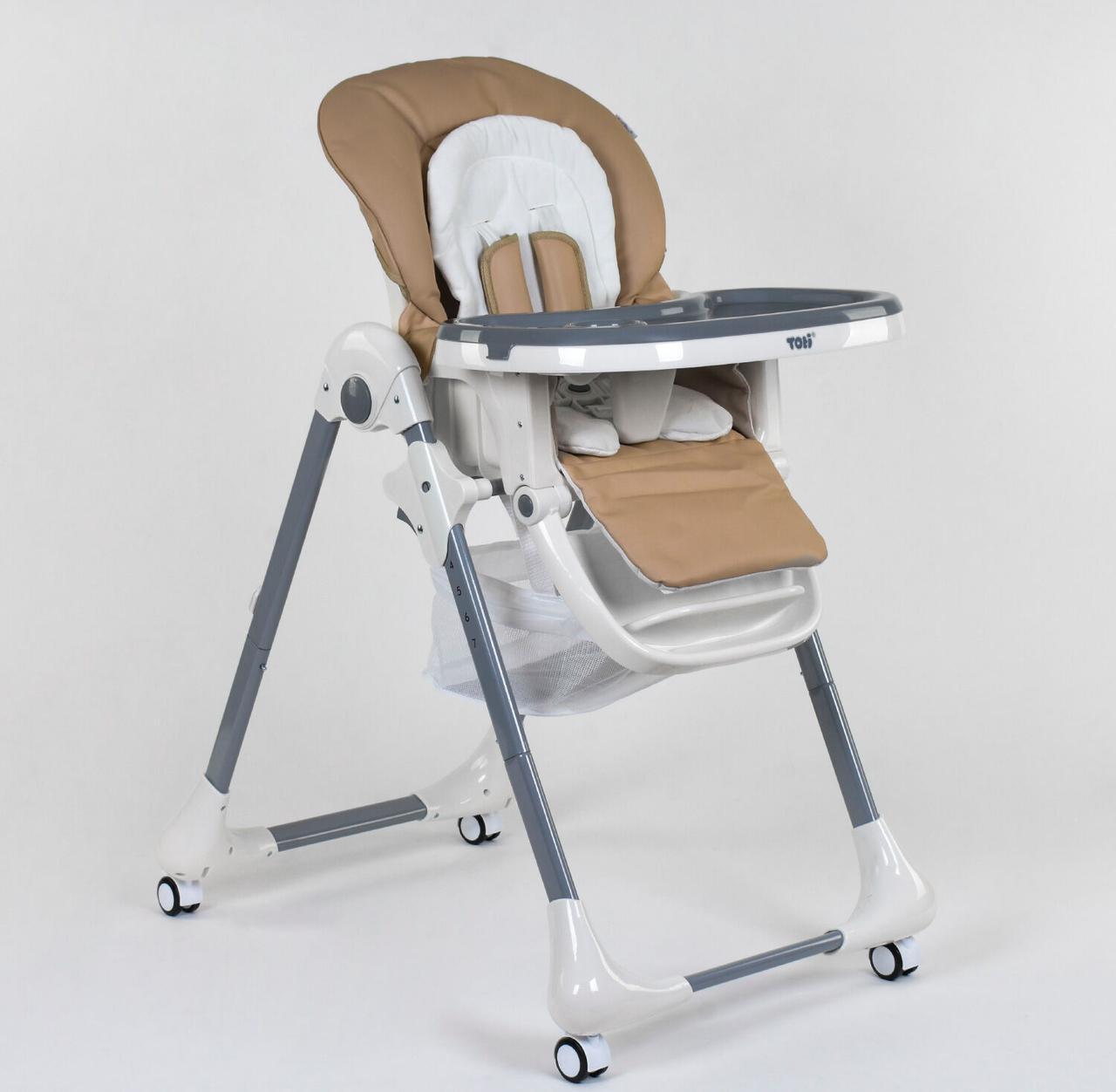 Стульчик для кормления Toti CB-2060, мягкий вкладыш, 4 колеса, съемный столик