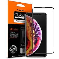 Защитное стекло Spigen Glas.tR Slim Full Cover для iPhone 11 Pro Max  / XS Max  Black  (065GL25232)