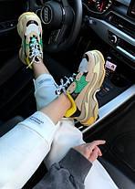 Женские кроссовки в стиле Balenciaga Triple S Yellow/Green, фото 2