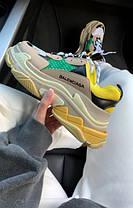 Женские кроссовки в стиле Balenciaga Triple S Yellow/Green, фото 3