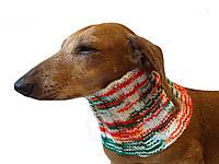 Вязанный шарф снуд для собаки ручной работы