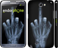"Чехол на Samsung Galaxy Note 2 N7100 Рука через рентген ""1007c-17"""