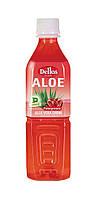 Упаковка безалкогольного негазированного  напитка Aloe Vera Drink Pomegranate Dellos  0.5 л х 20 бут