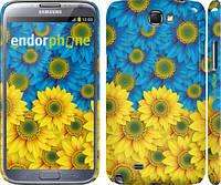 "Чехол на Samsung Galaxy Note 2 N7100 Жёлто-голубые цветы ""1048c-17"""