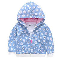 Кофта детская для девочки Ромашка, голубой Berni