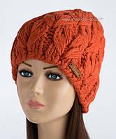 Вязаная женская шапочка Мальта терракот