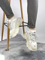 Женские кроссовки в стиле Balenciaga Triple S White Cream, фото 3