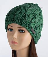 Объемная женская шапочка Мальта малахит