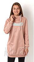 Теплая модная Туника для девочек подростков tm Mevis 3122 Размеры 146- 164