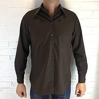Рубашка мужская шоколад