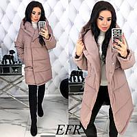 Удлиненная женская куртка с капюшоном Размер 42 44 46 48 В наличии 4 цвета