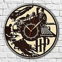 Гарри Поттер часы с дерева Часы в детскую спальню Декор с дерева Часы на стену Тихий ход часов Harry Potter
