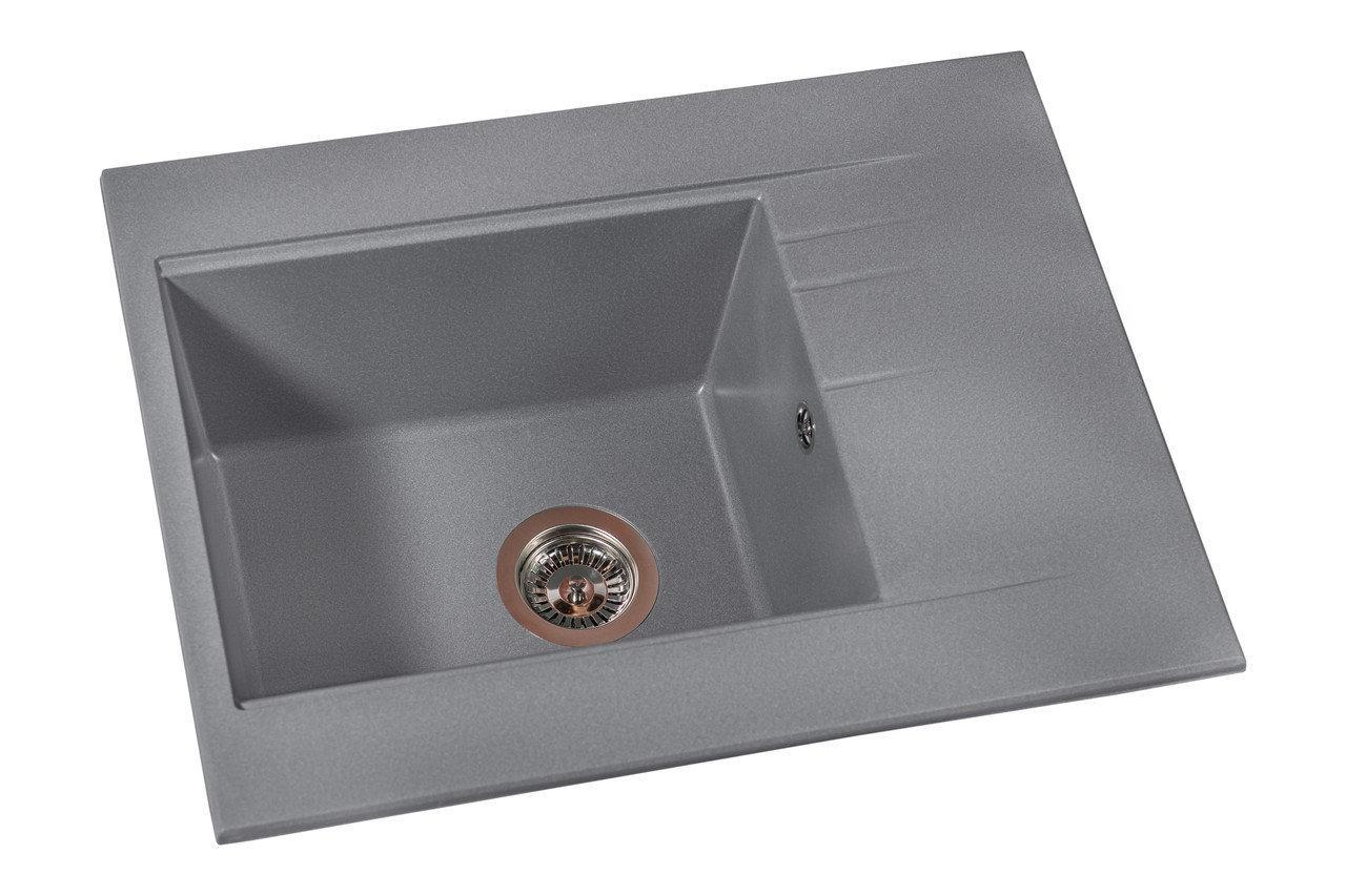 Кухонна мийка Miraggio Bodrum 650 Gray