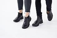 Спортивные кожаные черные челси, фото 5