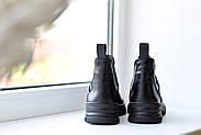 Спортивные кожаные черные челси, фото 6