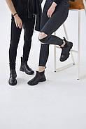 Спортивные кожаные черные челси, фото 8