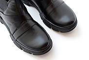 Спортивные кожаные черные челси, фото 10