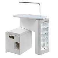 Маникюрный стол MAGYC с подсветкой и встроенной витриной Италия, цвет белый